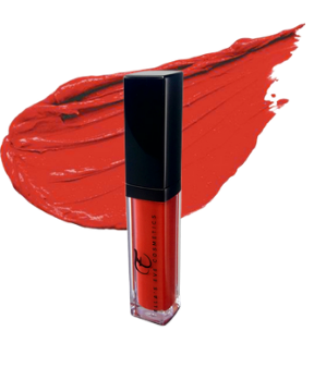 orange red liquid lipstick shade