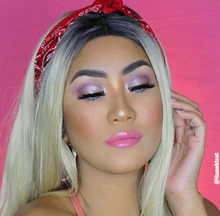 olive skin model wearing beach vibes pink shade