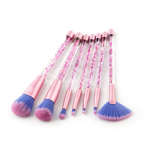 7 pieces Glitter Crystal Makeup Brush