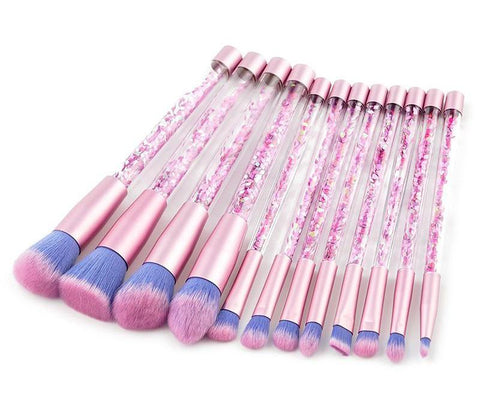 12 pieces Glitter Makeup Brushes