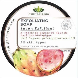 Exfoliating Soap with organic prickly pear seed oil
