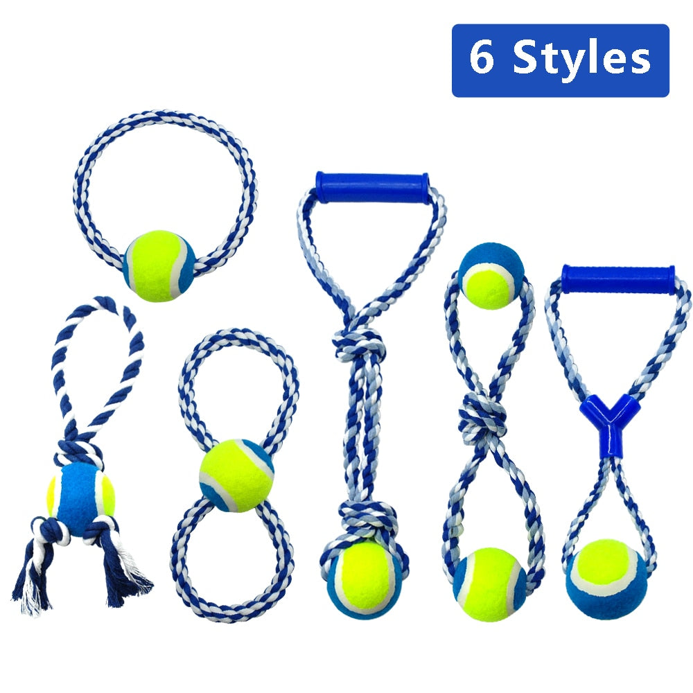 Cotton Dog Puppy Rope Toy Knot Chew Teeth  (For Small Medium Large Dogs)