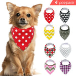 4pcs Dog Bandana (for Small Medium Large)