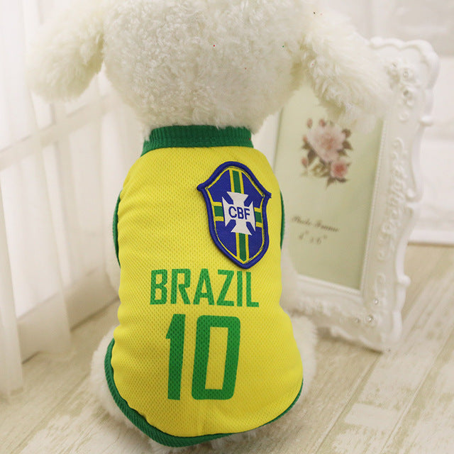 Summer Pet Cloth Football Jersey  (for Small Dog)