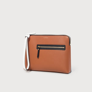 Multifunction Pouch - Caramel / Black / White