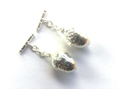 Real Acorns silver cufflinks