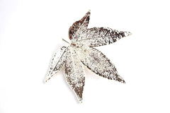 Real Japanese Maple leaf silver brooch