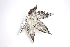 Real Japanese Maple leaf silver brooch.