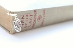 Real Pine cone silver bookmark
