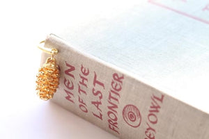 Real Pine cone gold bookmark