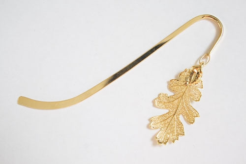 Real Oak leaf gold bookmark