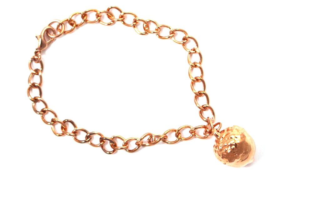 Real Acorn rose gold bracelet - Arborvita Real leaf jewellery