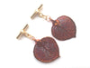 Real Aspen leaf iridescent copper cufflinks