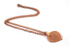 Real Aspen leaf rose gold pendant necklace