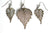 Real Birch leaf silver necklace and earrings set - Arborvita Real leaf jewellery