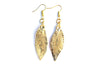 Real Elm leaf gold earrings.