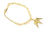 Real Japanese Maple leaf gold bracelet