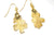 Real Oak leaf gold earrings - Arborvita Real leaf jewellery