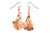 Real Oak leaf rose gold earrings - Arborvita Real leaf jewellery
