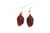 Real Pine cone iridescent copper earrings - Arborvita Real leaf jewellery