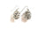 Real Redwood cone silver earrings - Arborvita Real leaf jewellery