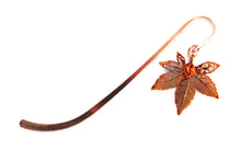 Real Japanese maple leaf iridescent copper bookmark