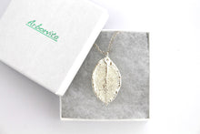 Real Rose leaf silver pendant necklace