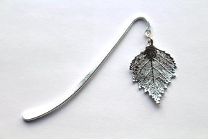 Real Birch leaf silver bookmark