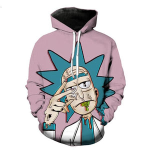 3D Rick and Morty Hoodie