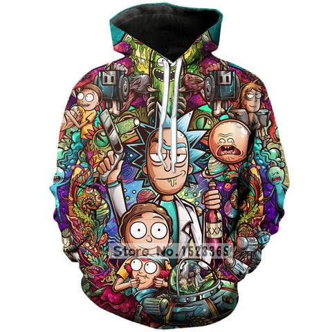 Colorful Rick and Morty Hoodies