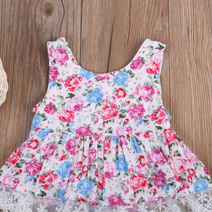 Mini Floral Dress with Pink Bloomers