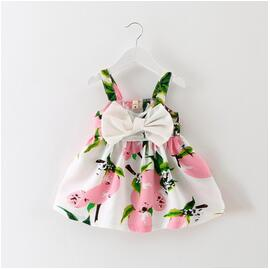 Bow Front Cotton Girl Dress