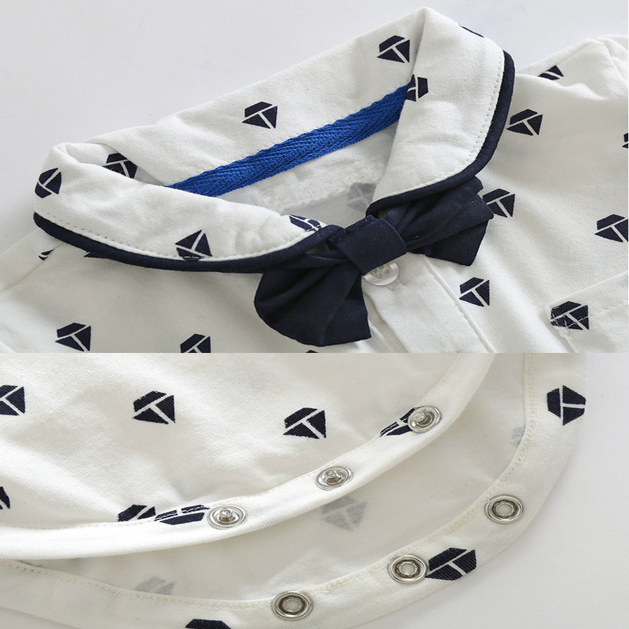 Shirt, Bow Tie and Shorts with Suspenders