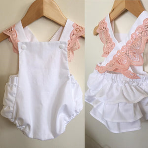 Girls Lace Romper Outfit
