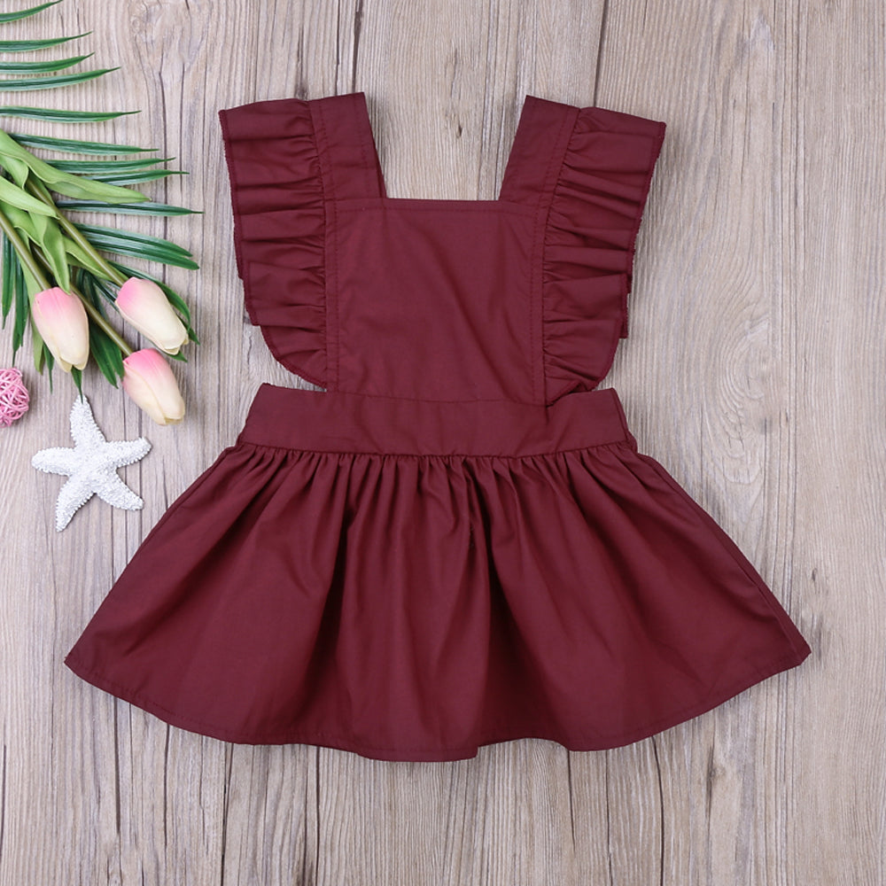 Backless Ruffle Dress