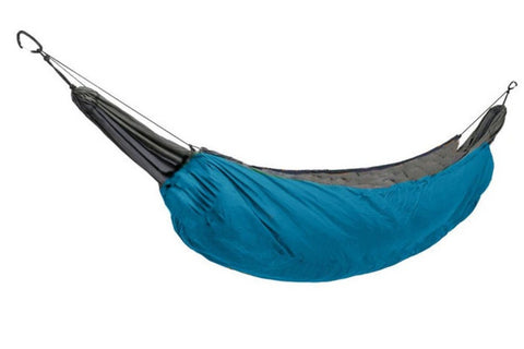 Image of Hammock Underquilt For Camping Aqua Blue