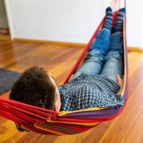 "Small Brazilian Canvas Hammock (68"" x 31"" Fabric Size - 2 Colors)"