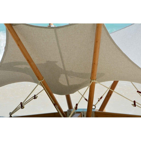 Image of Cacoon Kajito Luxury Deck Chair With Foldable Bamboo Stand