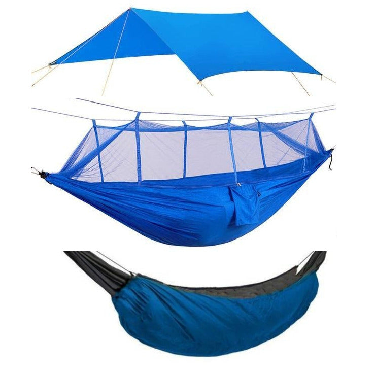 Camping Hammock Kit Blue