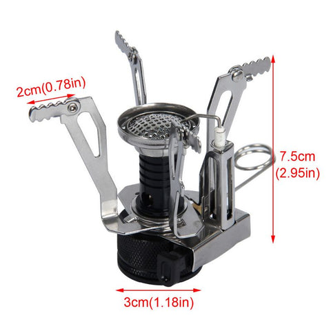 Portable Camping Stove And Cookware Set (8 Pieces)