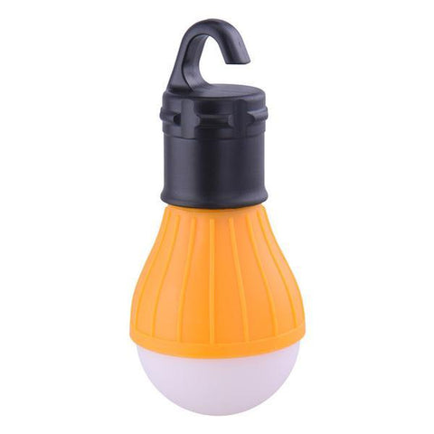 Image of Yellow Outdoor Hanging LED Light Bulb