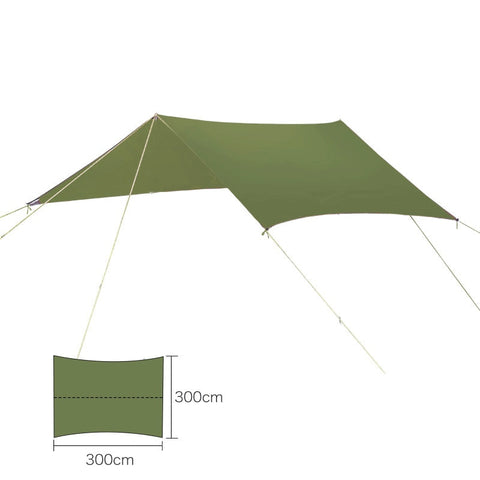 Image of Lightweight Ripstop Tarp For Hammock Camping
