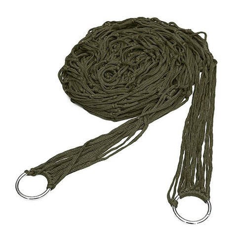 Image of Army Green Rope Hammock