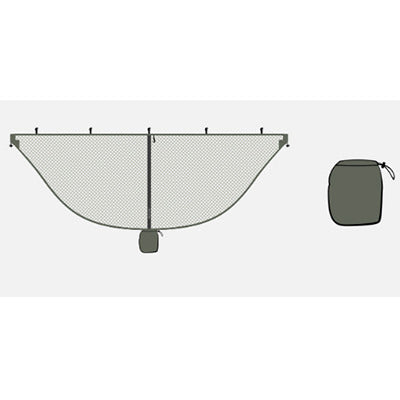 Image of Lightweight Army Green Mosquito Net For Hammocks