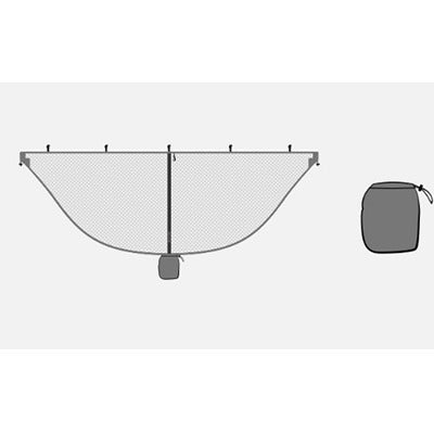 Image of Lightweight Gray Mosquito Net For Hammocks