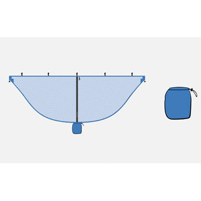 Image of Lightweight Blue Mosquito Net For Hammocks