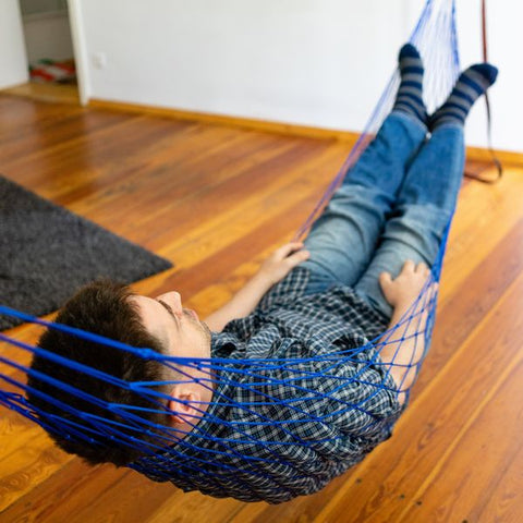 "Portable Nylon Mesh Rope Hammock (65"" x 42"" Bed Size - 5 Colors)"