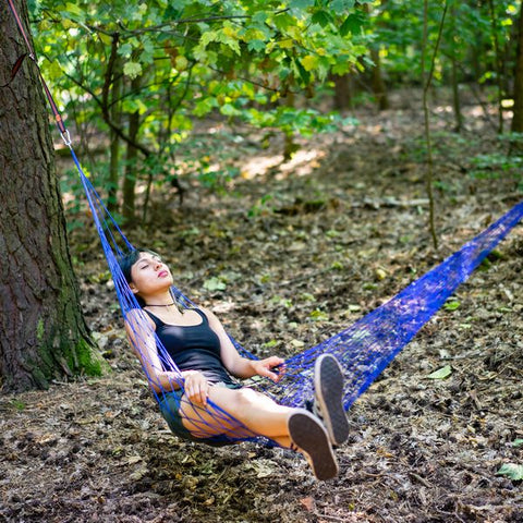 "Image of Portable Nylon Mesh Rope Hammock (65"" x 42"" Bed Size - 5 Colors)"