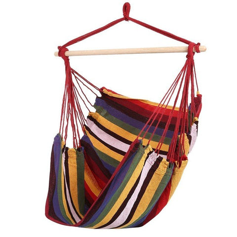 Striped Hammock Chair Red