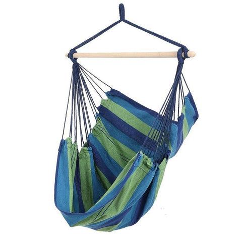 Striped Hammock Chair Blue